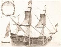 nave di civ. cannoni colle sue proportioni tagliata à mezzo (...) by vincenzo maria coronelli