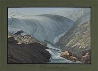 première source du rhin postérieur by johann ludwig (louis) bleuler