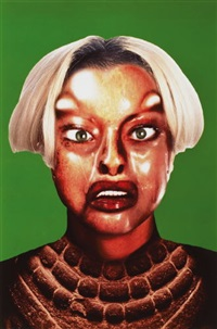 refiguration - selfhybridation no. 3 (+ 2 others; 3 works) by orlan