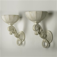 wall sconces (pair) by henri samuel