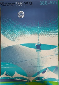 plakate zur olympiade in münchen (poster; set of 7) by otl aicher