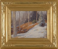 winter sketch, new jersey by gustave adolph wiegand