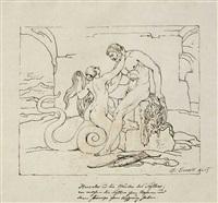 herkules und die mutter der skyten by bonaventura genelli