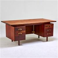 double pedestal desk by jens risom