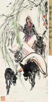 柳下运粮图 by huang zhou