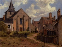 sydfransk landsby by henri linguet