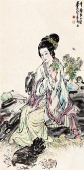 仕女 by huang zhou
