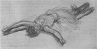 liegende tänzerin by charles paul renouard