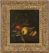nature morte aux fruits et verre de vin by juriaen van streeck