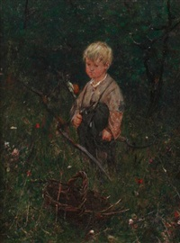 boy with a scythe by ernest noir