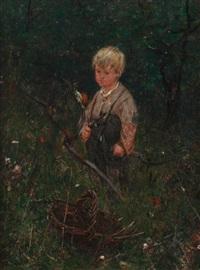 boy with a scythe by ernest noir