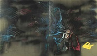 staple agony ii (plastic memory) (diptych) by justin ponmany