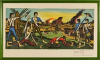 la bataille de valmy by bernard buffet