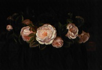 krans af sart lyserøde roser by alfrida baadsgaard
