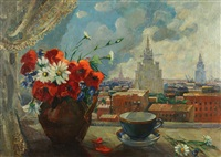 view from vorobyovy gory, moscow by igor popov