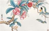 工笔花鸟 by liang ji