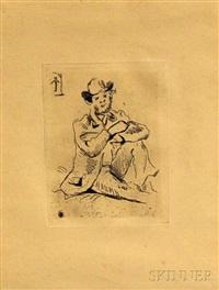 portrait du peintre a. guillaumin au pendu by paul cézanne