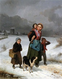 returning home by louis simon cabaillot lassalle