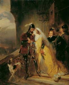 der abschied eines kreuzritters von seiner gemahlin by nicaise de keyser