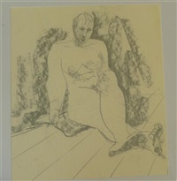 nude studies (7 works) by hugo dachinger