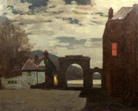 the archway, inverary at night by george houston