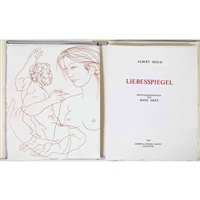 liebesspiegel (portfolio of 13 w/justif. and poems by albert oesch) by hans erni