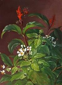 opstilling med blomster by alfrida baadsgaard