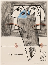 les oiseaux (from unite)(sold with 146b; set of 2) by le corbusier