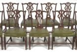 chippendale style dining chairs (set of 14) by arthur brett