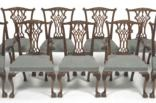 chippendale style dining chairs by arthur brett