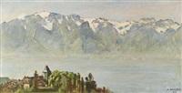 vue du château de blonay et le grammont by henri du voisin