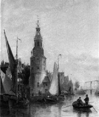 die oude schans in amsterdam by marie-lucie cornelius