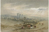 gloucester cathedral (+ sunset from the birdlip escarpment; 2 works) by henry earp