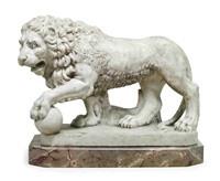 model of the medici lion by flaminio vacca