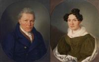 biedermeierportraits eines nürnberger patrizierpaares (pair) by johann lorenz kreul