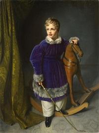 king albert of saxonia as child by carl christian vogel von vogelstein