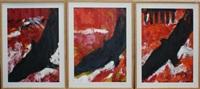 berlin wall (triptych) by jan cremer