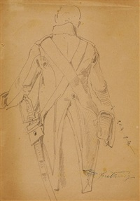 a watchman (back view) by carl spitzweg