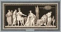 die entdeckung der verschwörung des catilina (after jean guillaume moitte) (+ 2 others; 3 works) by jean françois janinet