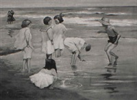 children on the beach by robert hartley cameron