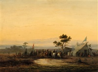 landscape with a military camp by johannes franciscus hoppenbrouwers