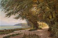 kystparti med høje træer by august jacobsen