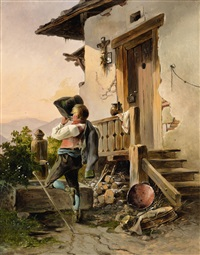 rest and refreshment by a well by anton altmann the younger