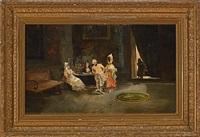 escena de interior by eugenio lucas villamil