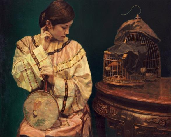 深闺 boudoir by chen yifei