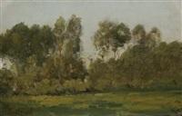 landschaft mit bäumen by antoine chintreuil