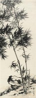 竹石图 by huang junbi