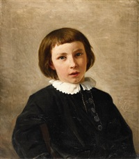 conrad lessing, the artist's son at age nine by karl friedrich lessing