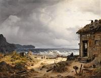 nordic coastal landscape by andreas achenbach