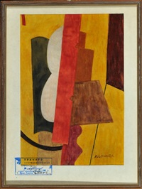 kubistische komposition by liubov popova